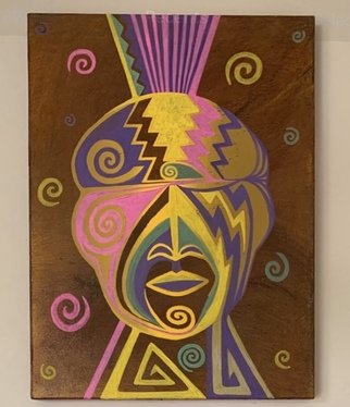 Roger Perkins: 'two spirited warrior', 2020 Acrylic Painting, Indiginous. American Indian Art...