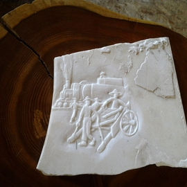 Debbi Chan: 'East meets West in marble', 2012 Stone Sculpture, Americana. Artist Description:    a relief carving in marble following the folding album East meets West. , a history of Chinese immigrants in Pacific NW ...