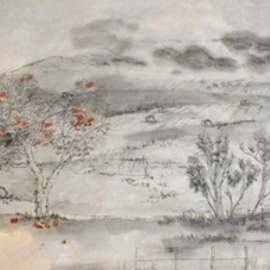 Debbi Chan Artwork Idaho, 2013 Ink Painting, Landscape