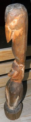 Debbi Chan Artwork  a small totem, 2010 Woodworking Art, Americana