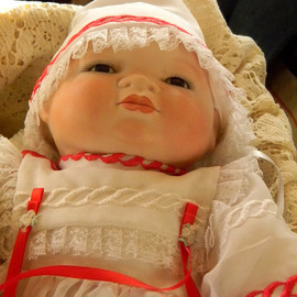 Debbi Chan Artwork a beautiful doll wilth rosey cheeks, 2011 Color Photograph, Children