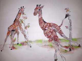 Debbi Chan: 'a camel story album', 2015 Artistic Book, Animals. Artist Description:       These album leaves are part of a larger 70'continuous story painting in a folding album.       ...