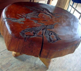 Debbi Chan: 'a day of peace', 2010 Furniture, Peace. Artist Description:  i got this piece of  wood from a friend. finally i finished carving it. if i sell it. it would probbly be sold as a tabletop. ...