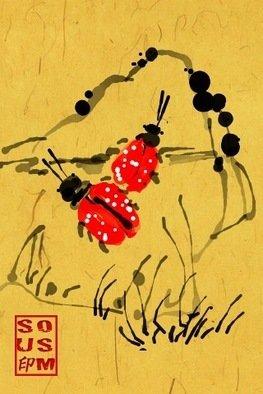 Debbi Chan Artwork a ladybug or two, 2011 Digital Art, Fauna