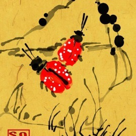 Debbi Chan Artwork a ladybug or two, 2011 Digital Art, Fauna