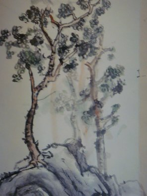 Debbi Chan Artwork a pair of tree, 2009 Ink Painting, Trees