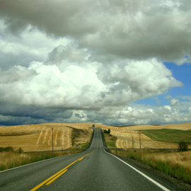 Debbi Chan: 'a road to anywhere', 2010 Color Photograph, Landscape. Artist Description:       photos from Idaho.      ...