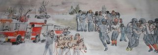Debbi Chan Artwork another Wallawa football victory, 2014 Watercolor, Sports