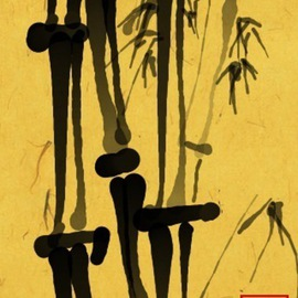 Debbi Chan Artwork bamboo stand, 2011 Digital Art, Botanical