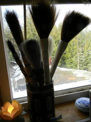 Debbi Chan Artwork big brushes in window, 2011 Color Photograph, Home