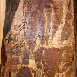 Debbi Chan Artwork born on the fourth of july, 2011 Wood Sculpture, Animals