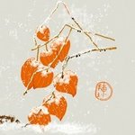 chinese lantern in snow By Debbi Chan