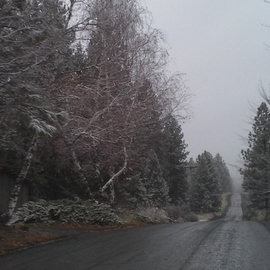 Debbi Chan: 'country road prepares for heavy snow approaching', 2012 Color Photograph, Landscape. Artist Description:   Photos from  Idaho.  ...