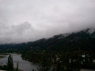 Artist: Debbi Chan - Title: dark day on the Clearwater river - Medium: Color Photograph - Year: 2011