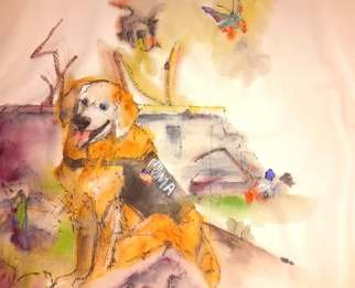 Debbi Chan: 'dogs  dogs dogs album', 2016 Artistic Book, Dogs. Artist Description:     These album leaves are part of a larger 70 continuous story painting in a folding album.     ...