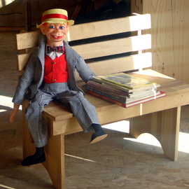 dummy with reading material
