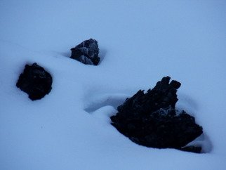 Artist: Debbi Chan - Title: face in snow or not - Medium: Color Photograph - Year: 2012
