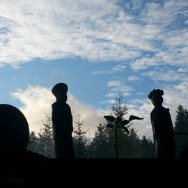 Debbi Chan Artwork figures towards the sky, 2013 Color Photograph, Clouds