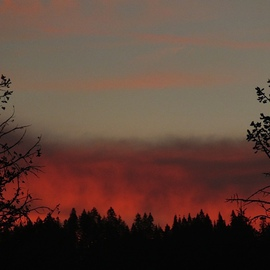 Debbi Chan: 'fire', 2013 Color Photograph, Clouds. Artist Description:                             Photos from Idaho.   ...