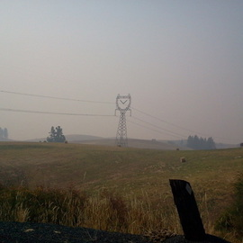 Debbi Chan: 'grade showing smoke in distance', 2012 Color Photograph, Landscape. Artist Description:    photos from Idaho.  ...