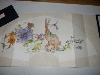 Debbi Chan Artwork hare in my garden, 2011 Artistic Book, Botanical