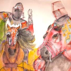Debbi Chan Artwork jousting  album, 2016 Artistic Book, Equine