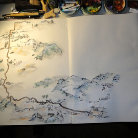 Debbi Chan Artwork map photo, 2012 Color Photograph, Landscape