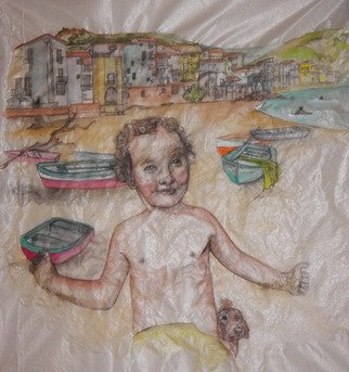 Artist: Debbi Chan - Title: mio cugina al mare - Medium: Watercolor - Year: 2012