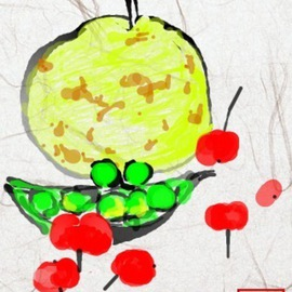 Debbi Chan Artwork mixed fruit, 2011 Digital Art, Botanical