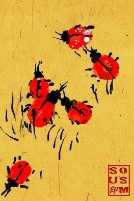 Debbi Chan Artwork more than two ladybugs, 2011 Digital Art, Fauna