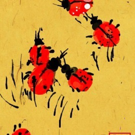 Debbi Chan Artwork more than two ladybugs, 2011 Digital Art, Fauna