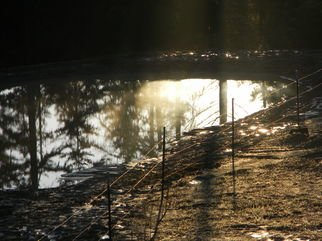 Debbi Chan Artwork morning reflection, 2011 Color Photograph, Atmosphere