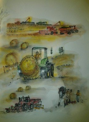 Debbi Chan: 'mustard seed garden manual for Western Eastern artists  farm equipment', 2012 Artistic Book, Indiginous. Artist Description:    watercolor/ ink. rice paper. a folding album.    ...
