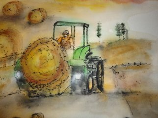 Debbi Chan: 'mustard seed garden manuel for  Western eastern artists farm machinery  ', 2012 Artistic Book, Indiginous. Artist Description:    watercolor/ ink. rice paper. a folding album.    ...