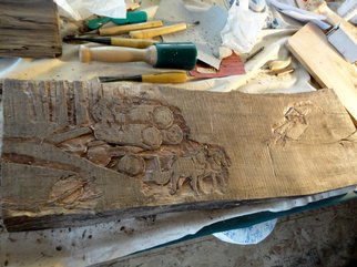 Debbi Chan: 'my carving project in progress', 2012 Color Photograph, Home. Artist Description:           photos from Idaho. this is a photo of the carving. the carving is not yet for sale.                 ...
