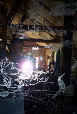 Color Photograph by Debbi Chan titled: my mirror and me, 2010