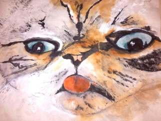 Debbi Chan: 'my momma loves me too', 2016 Artistic Book, Cats. Artist Description:  Watercolor/ inkon rice paper    ...