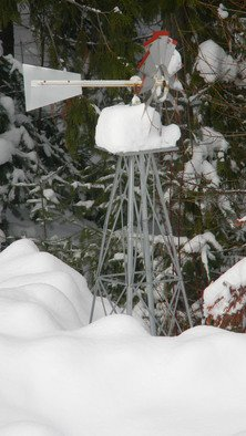 Debbi Chan Artwork my windmill covered in snow, 2011 Color Photograph, Farm