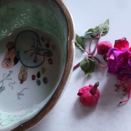 Debbi Chan Artwork of Fuchsia and ancient China series, 2014 Color Photograph, Still Life