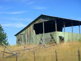 Color Photograph by Debbi Chan titled: old farm  structure, 2010