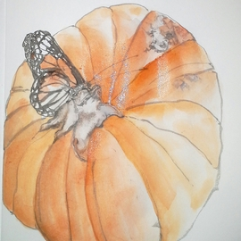 pumpkin with monarch
