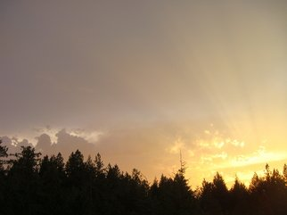 Color Photograph by Debbi Chan titled: rays from heaven, 2010