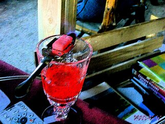 Color Photograph by Debbi Chan titled: red absinthe, created in 2010