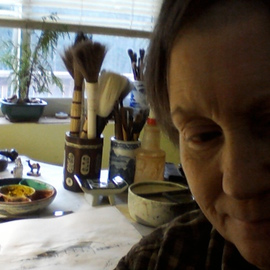 Debbi Chan Artwork self portrait of artist in studio, 2011 Color Photograph, Portrait
