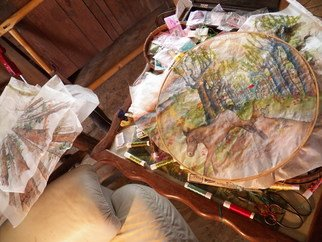 Artist: Debbi Chan - Title: set up to embroider - Medium: Color Photograph - Year: 2012