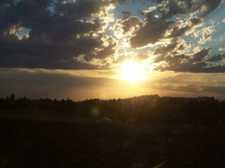 Color Photograph by Debbi Chan titled: sunset over the fields, 2010