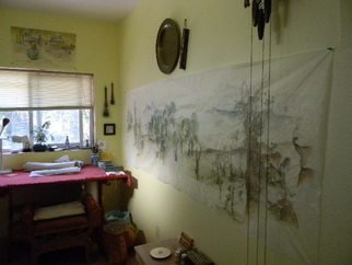 Debbi Chan Artwork ten feet of silk on the wall, 2011 Color Photograph, Home