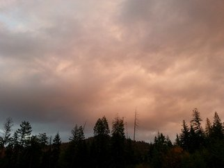 Debbi Chan: 'the sky turned shades of pink', 2013 Color Photograph, Clouds. Artist Description:  Photos from Idaho        these album leaves are in watercolor/ ink on rice paper.                                                                                                          ...