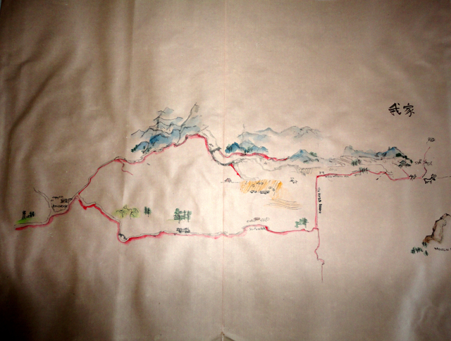 Kendrick Idaho Map.Debbi Chan Artwork Through My Idaho Map Of Idaho Original