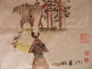 Artist: Debbi Chan - Title: touched - Medium: Watercolor - Year: 2012